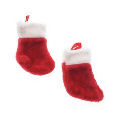 Mini Plush Christmas Stockings, 5-1/2-Inch, 2-Count