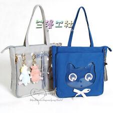 Japanese Dolls Show Transparent Clear Color Shoulder Bag Handbag Itabag Canvas