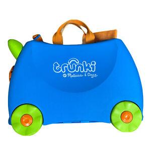 Trunki Suitcase Melissa & Doug Kids Ride On Wheeled Hard Sided Shelled Luggage
