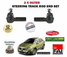 FOR SUZUKI SX4 S CROSS 1.6 + 1.6DT 2013->NEW 2X OUTER STEERING TRACK ROD END SET