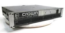 Crown Micro-Tech 1000 Power Amplifier 250W/CH @ 8-OHMS
