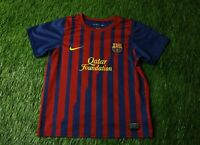 BARCELONA BARCA SPAIN 2011/2012 FOOTBALL SHIRT JERSEY HOME NIKE ORIGINAL KIDS XL