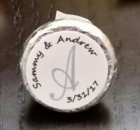 120 Personalized Monogram Wedding - Shower Hershey Kisses Labels - Party Favors