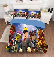 3PCS Roblox Boys Bedding Set Comforter Quilt Cover Pillowcases Duvet Covers Gift