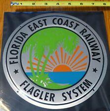 Microscale Metal Sign #10016 Florida East Coast  (Die Cut, Embossed Metal Sign)