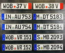 NEW European German License Plates for BMW, VW, Audi, and Mercedes Lot of 12