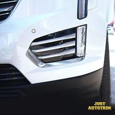 Sliver Matte Chrome Front Bumper Fog Moulidng cover trims For Cadillac 2017 XT5
