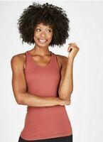 Sweaty Betty Athlete Seamless Gym Vest Size S Rust