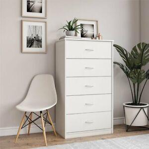 Mainstays Classic 5 Drawer Dresser,White Oak Finish