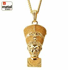 "Mens Hip Hop Egyptian Pharaoh 30"" 4mm Cuban Chain Pendant Necklace Set MP 67 GG"