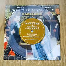 "Freddie Mercury Queen Barcelona Unplayed Clear Coloured Vinyl 7"" single Caballe"