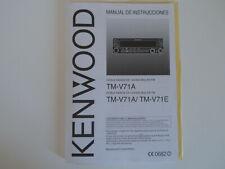 KENWOOD TM-V71A/E (SPANISH) (GENUINE MANUAL ONLY)......RADIO_TRADER_IRELAND.