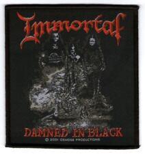 Parche bordado, borded patch, rock , metal - Immortal, Damned in Black