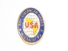 PAN AMERICAN GAMES MEXICO '75 USA CLUTCH LAPEL HAT BAG PIN 3/4x1/2 CLOISONNE?