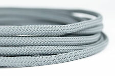 10 meter Shakmods Round 4mm High Density Silver Grey Braided Expandable Sleeving