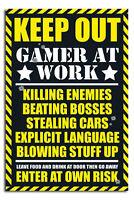 Keep Out Gamer At Work Poster  Gloss Laminated New Sealed Free UK P&P