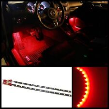 """2X 12"""" Red 12 SMD LED interior strip footwell ambient light exterior #B3"""