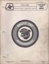 1975 Arctic Cat Snowmobile Lynx Parts Manual