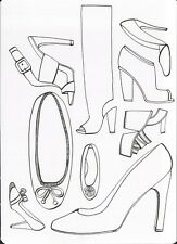 (16986 ) Colour It In Postcard - Fashion - Shoes