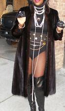 Mint Chloe for I Magnin blk Full length Mink Fur Coat S