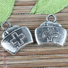 14pcs tibetan silver color nurse cap design charms EF0256