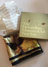 Metropolitan Museum of Art Floral Silk Scarf With Box