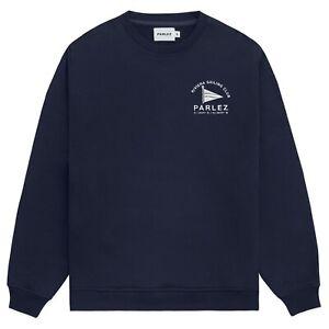 Parlez Men's Sweatshirt - Parlez Holman Crew Neck Ecru, Navy - BNWT