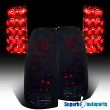 For 1988-1998 Chevy C10 C/K 2500 3500 LED Tail Lights Red Smoke Pair