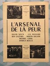 L'ARSENAL DE LA PEUR avec David NIVEN Lea MASSARI Daniela ROCCA M CRAIG Synopsis