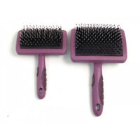 Dog Cat Porcupine Grooming Brush with Ergonomic Hand Grip