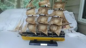 Vintage Assembled Wood Wooden Nautical Model Ship Boat 1869 CUTTY SARK
