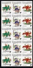 SINGAPORE MNH 1998 Prehistoric Animals - Self-Adhesive Sheetlet