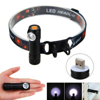 USB Rechargeable R2 LED Multi-function Headlamp Flashlight Work Light Headlight