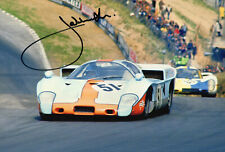 """LE Mans Driver Jacky Ickx Hand Signed Photo Autograph 12x8"""" AA"""