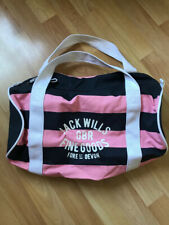 Women's Jack Wills Pink And Navy Gym Bag With White Straps, Never Been Used
