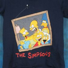 NOS vintage 80s THE SIMPSONS CARTOON YOUTH KIDS T-Shirt bart homer tv thin 90s