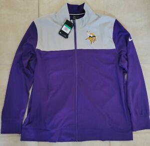 New Nike NFL Minnesota Vikings Full Zip Sideline Jacket Men's XL $90 NWT