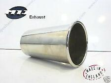 """4"""" Sports Rolled Out Weld-On Round Exhaust Tailpipe Trim Tip Stainless Steel"""