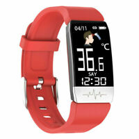 Fitness Tracker Body Temperature Heart Rate Sleep Monitor Smart Watch Unisex