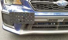 Bumper Tow Hook License Plate Mount Bracket For Subaru WRX WRX STI 2015 - 2018