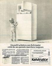PUBLICITE ADVERTISING 045  1966  KELVINATOR  frigidaire  congélateur