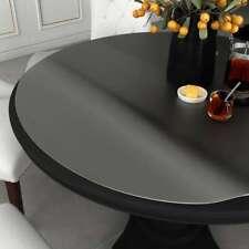 vidaXL Tischfolie Schutzfolie Tischschutz Folie Durchsichtig Ø 80 cm 2 mm PVC