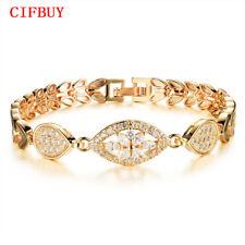 Luxury Gold Color Bracelet Women Lady AAA Cubic Zircon Crystal Birthday Jewelry