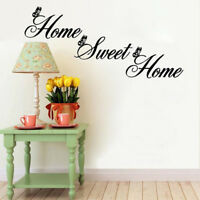 """New """"Home Sweet Home"""" Wall Quote Sticker Wall Decals Mural Art Lounge"""