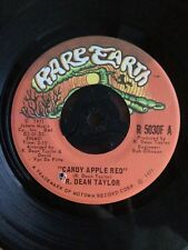 "R DEAN TAYLOR 7"" vinyl single CANDY APPLE RED 1971. Motown artist."