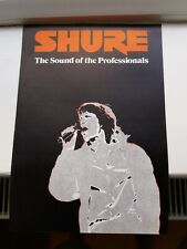 Vintage Shure microphone sales brochure. Sm58 and other mics. Late 70s early 80s