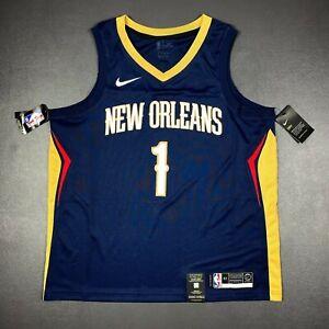 100% Authentic Zion Williamson Nike Pelicans Icon Swingman Jersey Size 52 XL