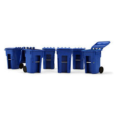 BRAND NEW SET OF 6 BLUE TRASH CARTS FOR GARBAGE TRUCKS  by FIRST GEAR 1/34