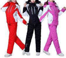 Damen Skianzug+Hose Jacke Winter Wasserdicht Mantel Snowboard Schneeanzüg S-2XL+
