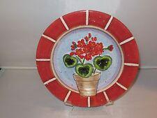 Dept 56 FLORAL FLOWER Ceramic Salad Sandwich Plate - NEW